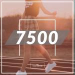 1日7500歩