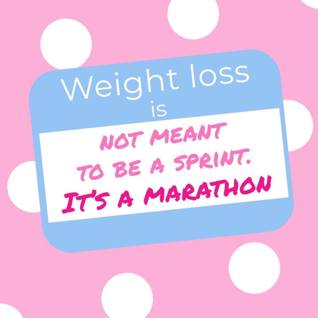 ダイエットはマラソンです